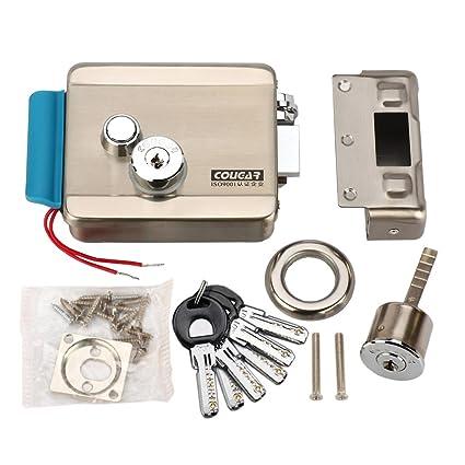 [actualización versión] amocam eléctrico cerradura electrónica liberación 6pcs clave de ordenador DC 12 V