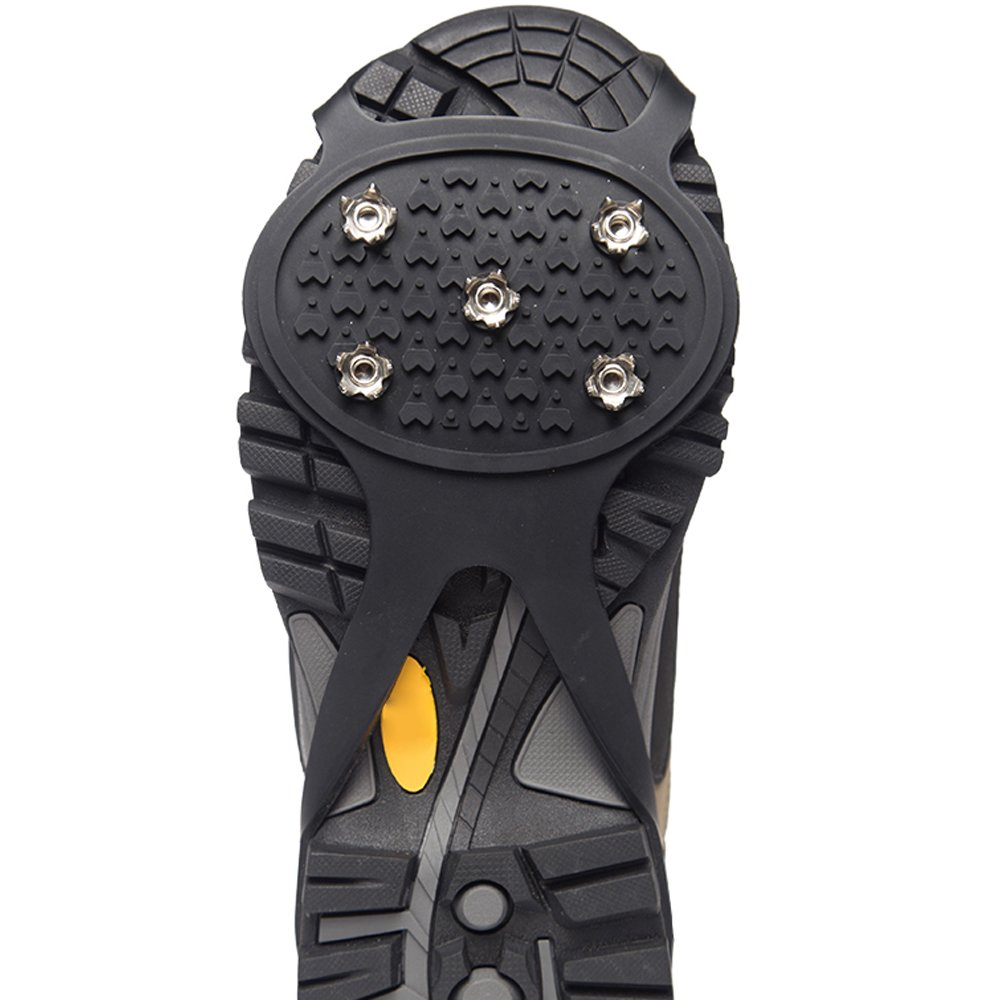 Hiking Spikes Snow Cleats Dalibora 2 Pcs Anti-slip Ice Grips or Hiking on Snow and Ice Jogging Ice Traction Cleats for Walking 20 Metal Ice Spikes Provide Stability Traction Grips Ice