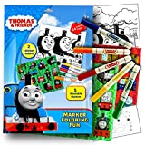 Thomas the Train Stickers Coloring Activity Set With, Washable Markers, Sticker Sheets and Coloring Pages Bundle with 1 Separately Licensed Coloring Sticker