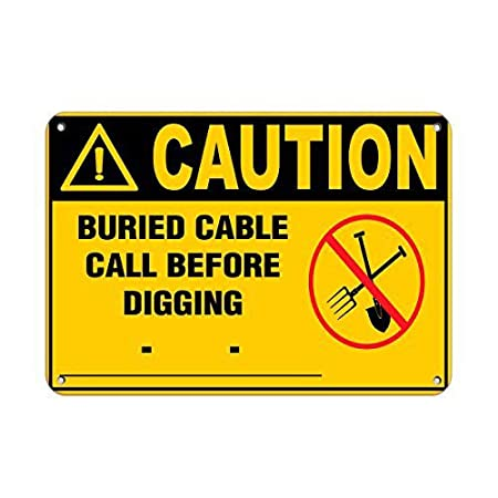 Caution Buried Cable Call Before Digging Placa Vintage Metal ...