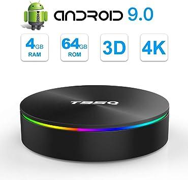 SIDIWEN T95Q Android 9.0 TV Box con 4GB RAM 64GB ROM Amlogic ...