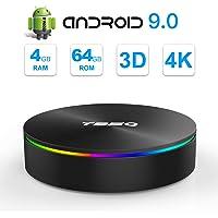 SIDIWEN T95Q Android 9.0 TV Box con 4GB RAM 64GB ROM Amlogic S905X2 Bluetooth4.1 2.4 / 5.0G WiFi Quad Core 64 bits H.265 3D UHD 4K Smart Internet TV Box