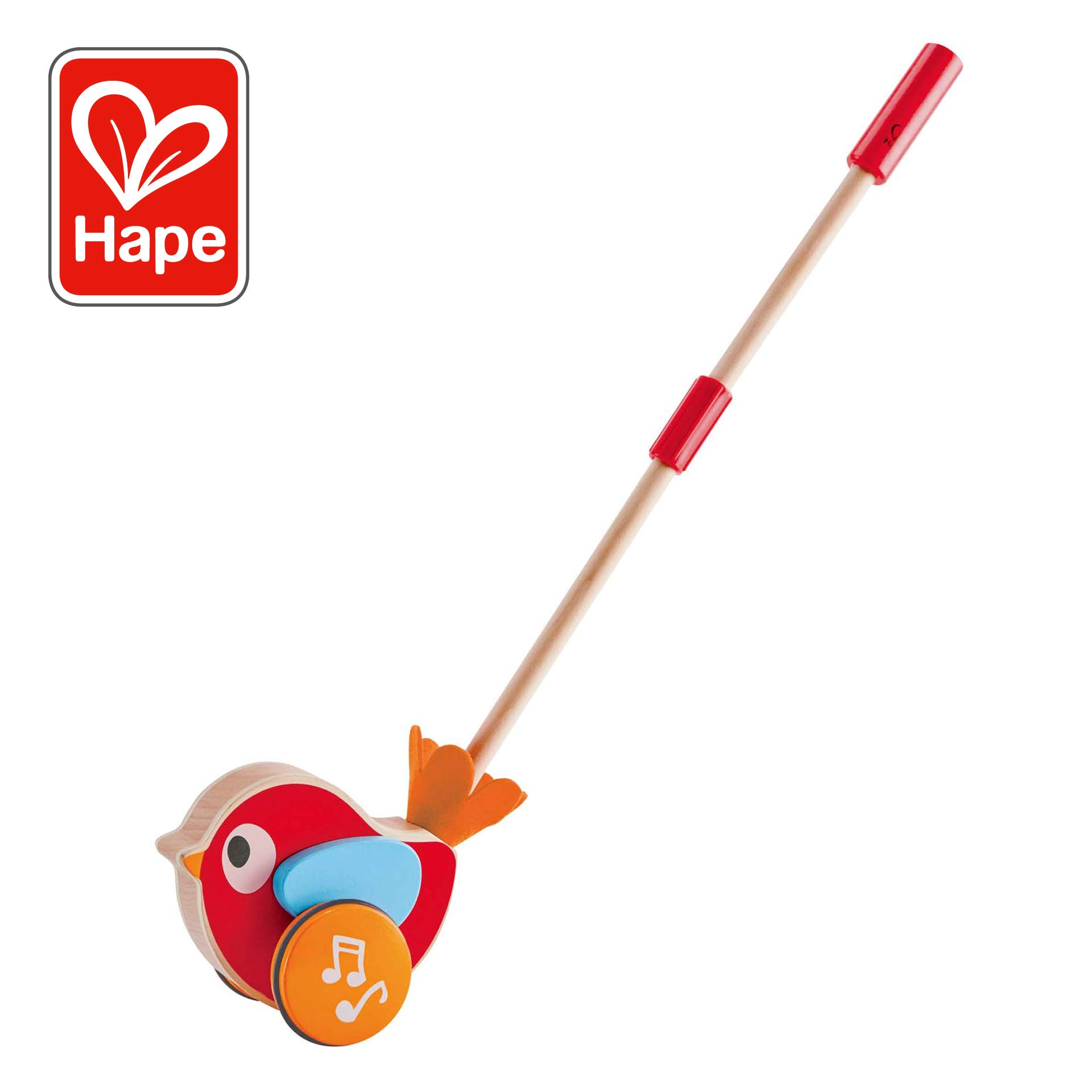 Hape Lilly Musical Wood Push Along Toy