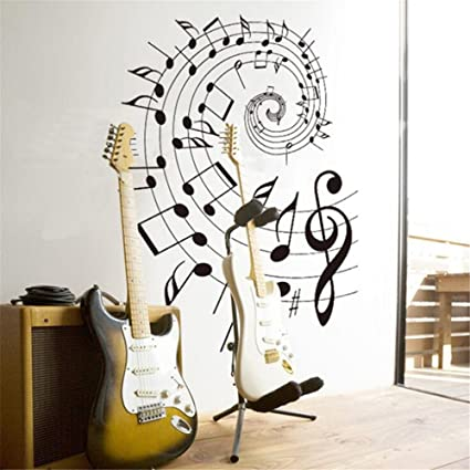 Amazon.com: Music Wall Decals Music Decor Music Note Wall Decals ...
