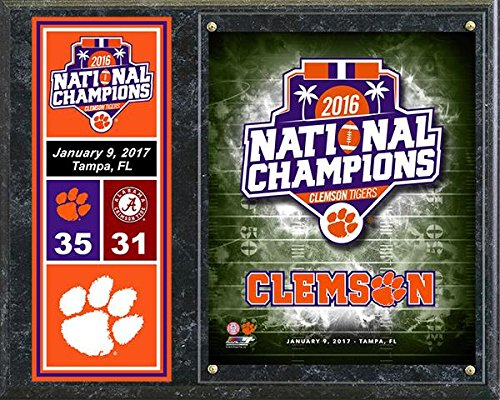 Clemson Tigers 2016 National Championship 12x15 Logo (Basketball Championship Plaque)