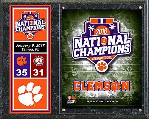 Clemson Tigers 2016 National Championship 12x15 Logo (Basketball Championship Plaque)