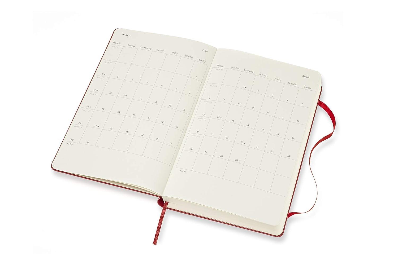Moleskine 18 Meses Calendario Diario 2019/2020 Grande / A5 ...