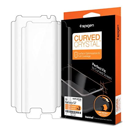 Amazon Com Spigen Curved Crystal Galaxy S7 Screen Protector With