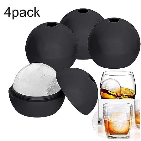 omufipw 4 paquetes de silicona Bandeja de cubitos de hielo de 2 ...
