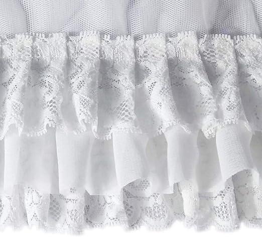 Skirt Lace Trim Chiffon Pleated Ribbon DIY Sewing Costumes Dress Accessories