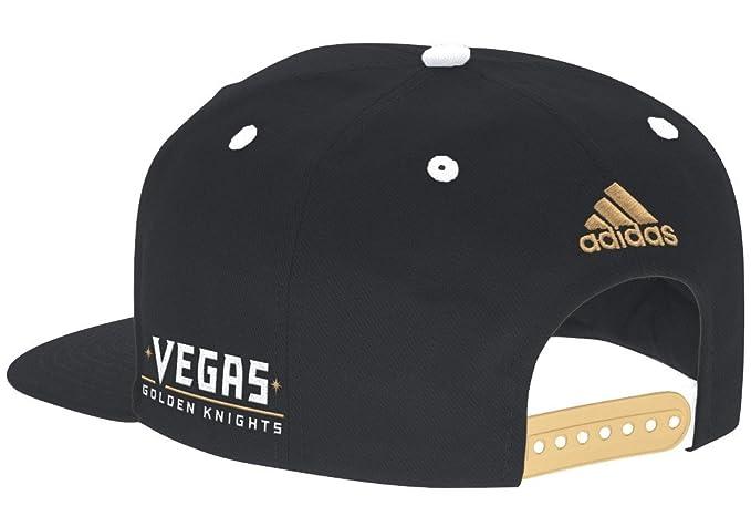 adidas Las Vegas Golden Knights NHL Flat Brim Snap Back Hat - Black   Amazon.co.uk  Sports   Outdoors 8cdcc9b55b7
