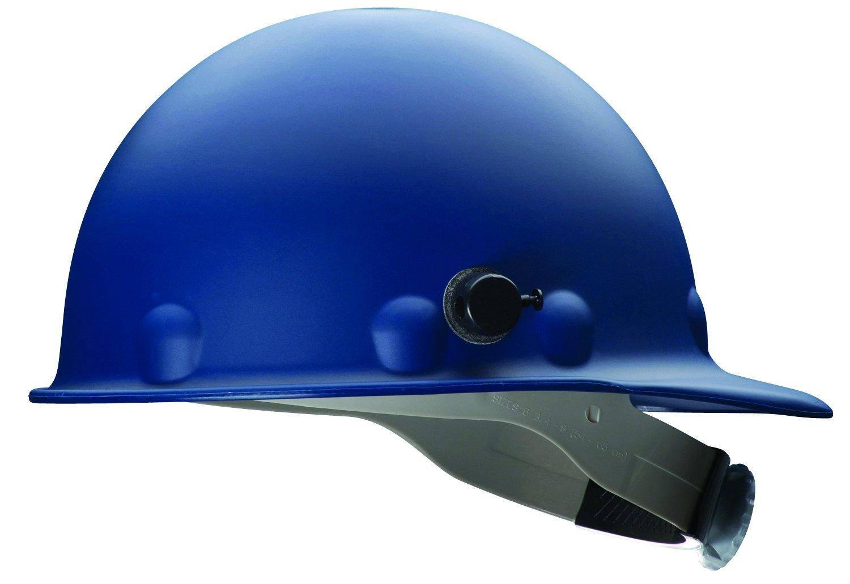 Fibre-Metal by Honeywell P2HNQRW71A000 Super Eight Fiber Glass Ratchet Cap Style Hard Hat with Quick-Lok, Blue
