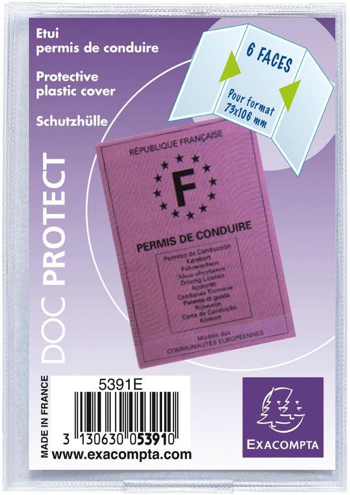 Exacompta 5391E - Funda PVC para nuevo carnet de conducir francés