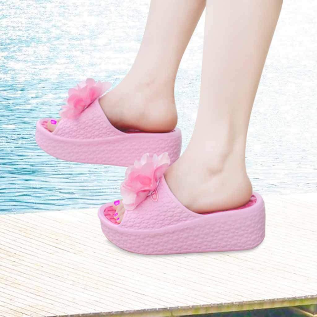/Épais Semelles de Mode Femmes Sandales d/ét/é Plate-Forme Chaussures Fleur Plage Trou Chaussures