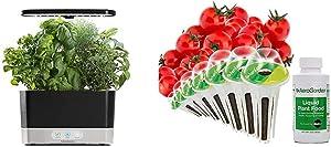 AeroGarden Black Harvest Indoor Hydroponic Garden, 2019 Model & Red Heirloom Cherry Tomato Seed Pod Kit