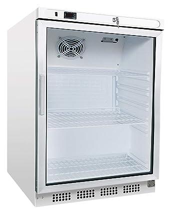 Frigorífico con puerta de cristal, 200 litros, frigorífico para ...
