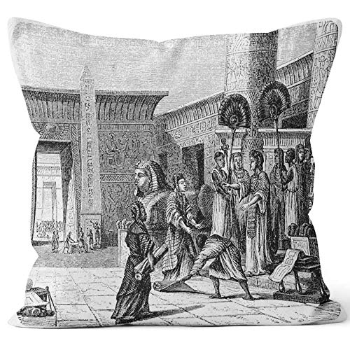 Ptolemy I Soter inaugurates The Great Library at Alexandria Home Decorative Throw Pillow Cover Square Pillow case 18x18 Inches -