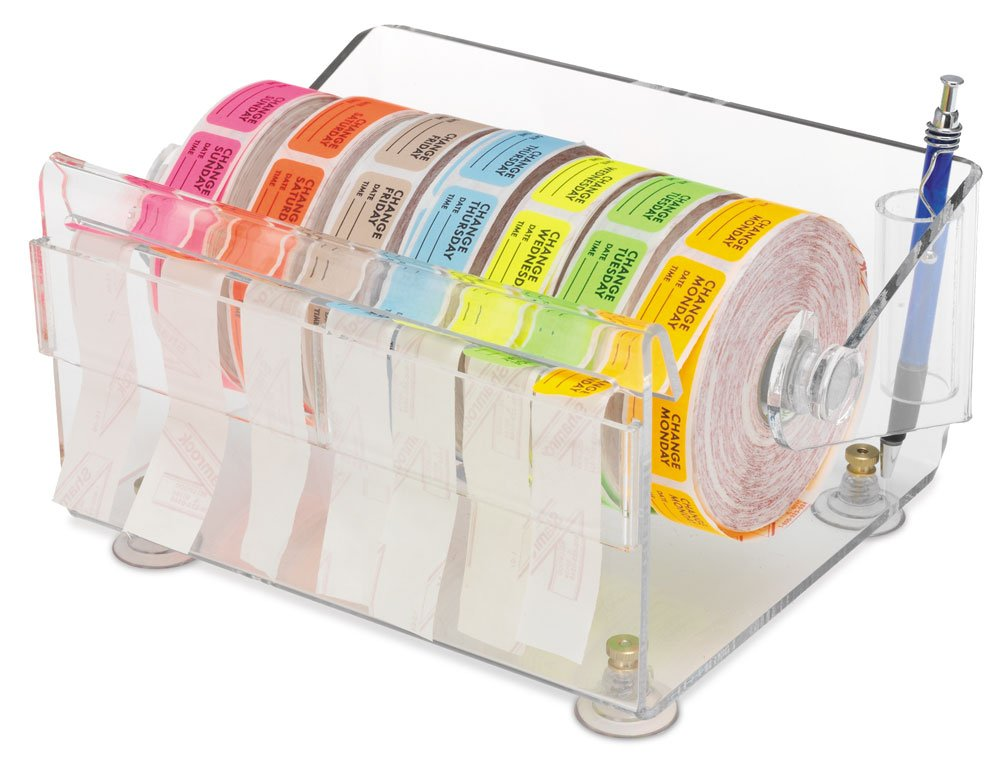 Clearform ML1549 Acrylic Pre-Cut Label Dispenser, 4.5'' H x 9.5'' W x 7.5'' D