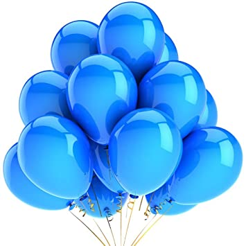 aiernuo 100 pcs blue balloons 12 inches thick latex 180g bag kids