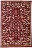 Antep Rugs Oriental Wave Collection Royal Floral Polypropylene Area Rug (Red/Ivory, 8' x 10')