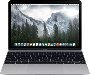 Apple Macbook MLH72LL/A, 12-inch Retina Display, Intel Core m3, 256GB - Space Gray (Early 2016) (Renewed)