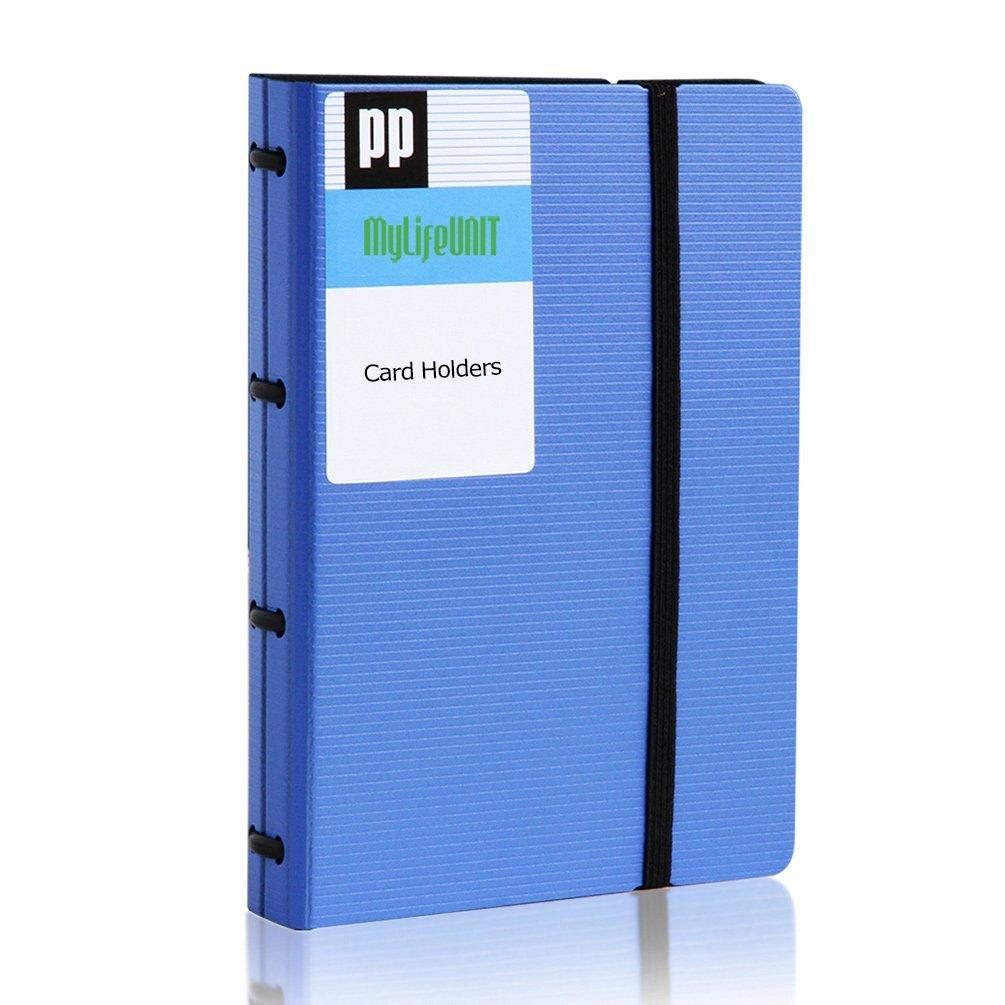Mylifeunit Name card Book Holder, porta biglietti da visita con 5color Tabs, 180carte capacità Black FBA_OF16HW0033