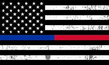 Rogue River Tactical Thin Red Blue Line Lives Matter Flag Car Decal Bumper Sticker Support Law Enforcement Police Officers and Firefighter 10x6 Inch Large KDWVMA2681