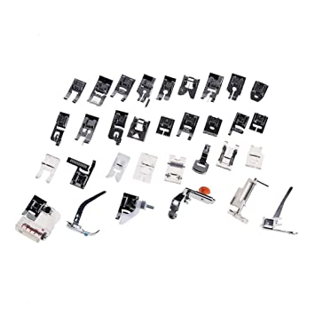 Prensatelas Accesorios para Máquina de coser Matefielduk 32pcs máquina de coser doméstica prensatelas conjunto de máquina