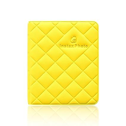 Jia HU Cuir Mini 64 poches Album photo pour Fujifilm Instax Polaroid Taille  Macaron Tableau Housse de rangement livre Cadeau vert menthe  Amazon.fr  ... 3e221eb1d816