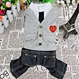 SMALLLEE_LUCKY_STORE Sweater Jumpsuit, Large, Grey