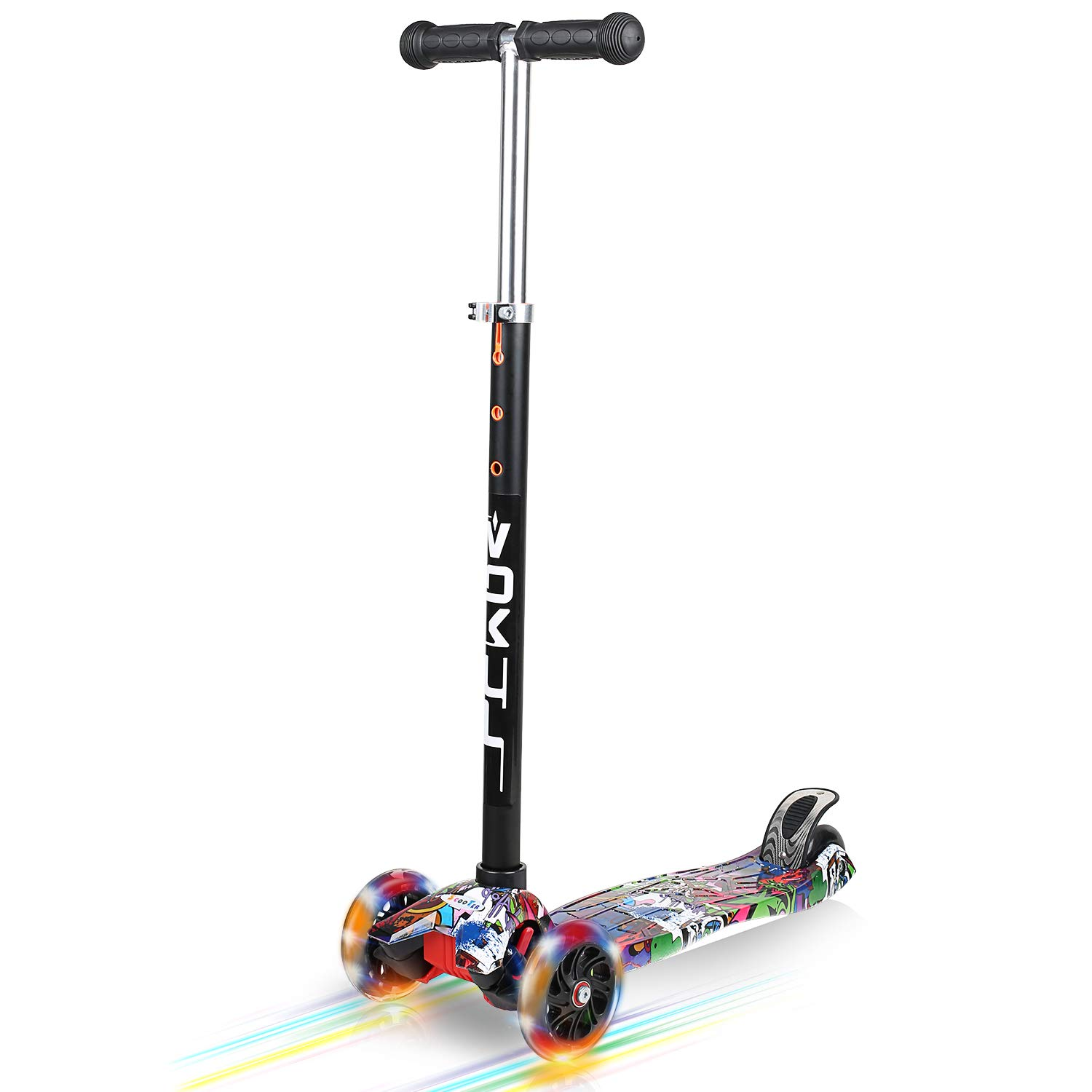 VOKUL 3 Wheel Mini Kick Scooter with LED Flashing Wheels for Age 3+ by VOKUL