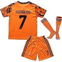 2020/21 Juventus Soccer Football Youth Third Jersey Kit Ronaldo 7 Kids