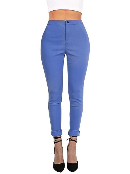 0125d0df787 Ferbia Womens Classic High Waist Pencil Pants Stretch Comfort Slim Ankle  Pant