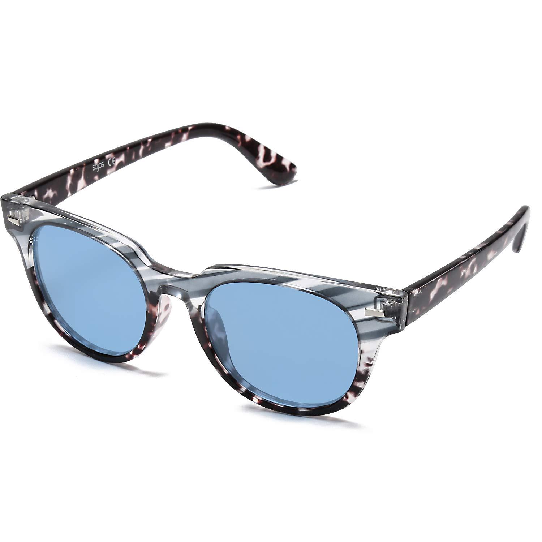 SOJOS Occhiali da Sole da Donna da Uomo Polarizzate Rettangolari Vintage MEMORIES SJ2075