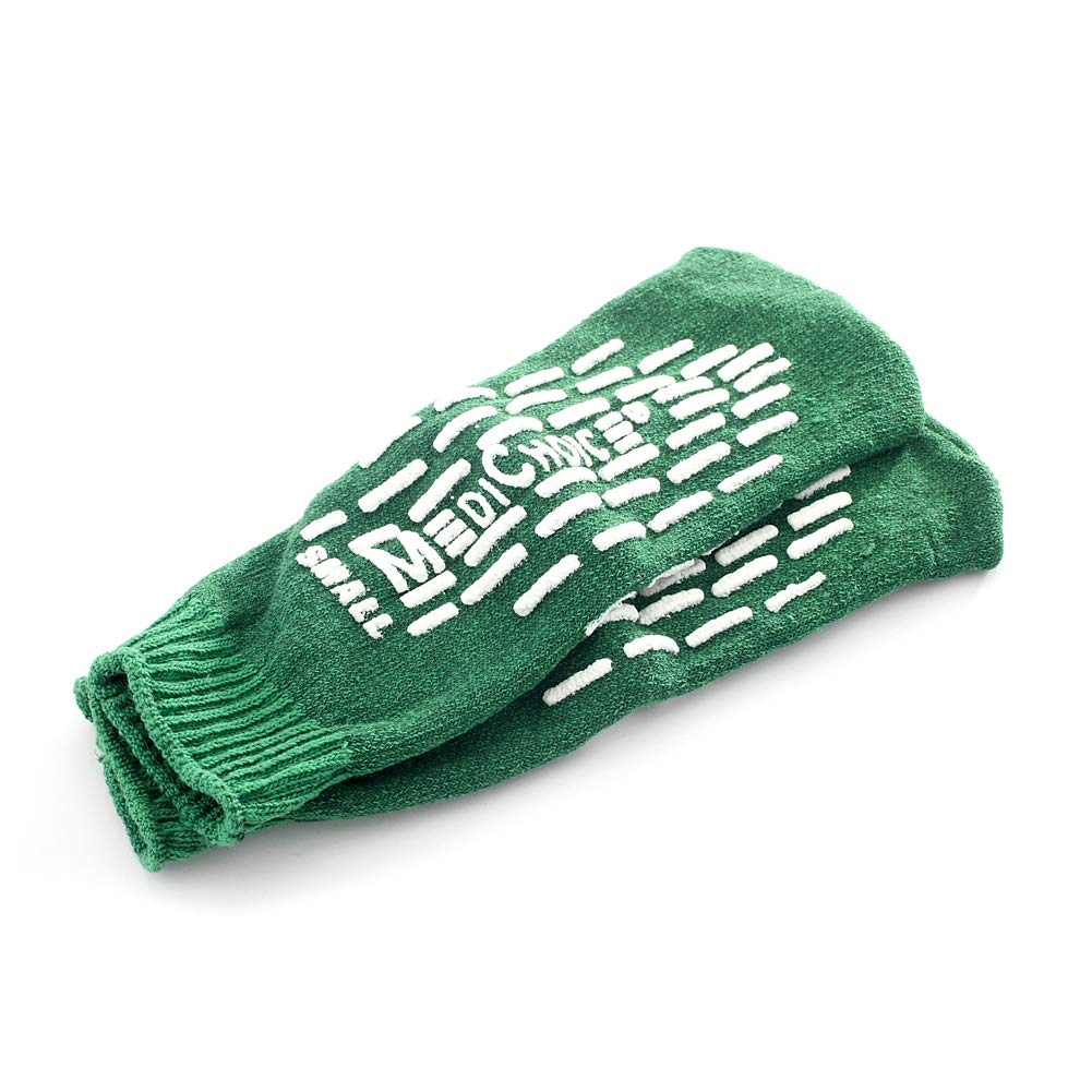 MediChoice Terry Cloth Slippers, Double Tread, Small, Green, 1314SLP7DG (Case of 48 Pairs - 96 Total) by MediChoice