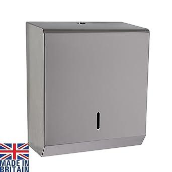 Dispensador de toallas de papel de mano de acero pulido C plegable