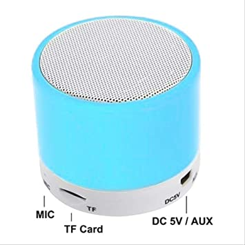 GLQA Ponente Altavoz Bluetooth Estéreo Compatible con U-Disk TF Tarjeta Inalámbrica Subwoofer Portátil Azul