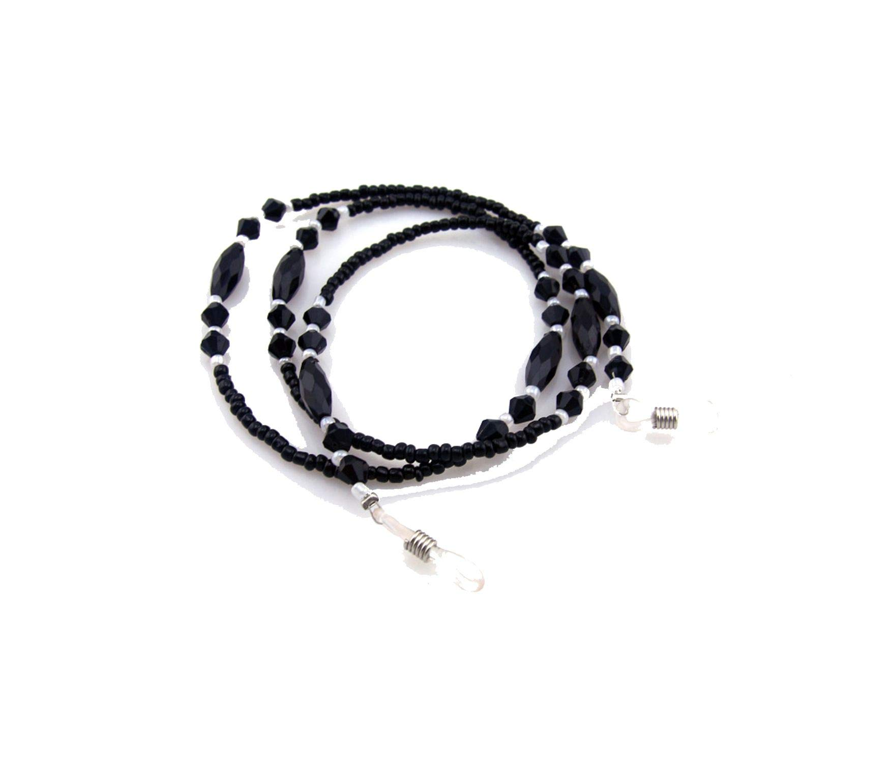 20 Pcs Black Beaded Eyewear Cord Reading Glass Neck Strap Eyeglass Holder Black Cord Glasses Strap Eyewear Accessories by RHYS DOBSON