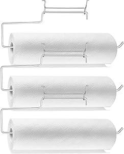 Uspeedy- 3 Pack Pegboard Paper Towel Holder, Stainless Steel Pegboard Hooks, Pegboard Organization Accessory Hook for Workshop, Garage, Kitchen, Laundry Room, Bathroom(Stainless)