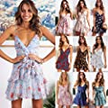 Dresses for Womens,DaySeventh Womens Printing Off Shoulder Sleeveless Party Bodycon Slim Min Dress
