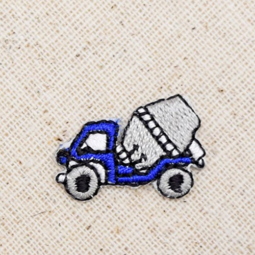 Small/Mini - Concrete Mixer - Cement Truck - Construction - Iron on Applique/Embroidered Patch