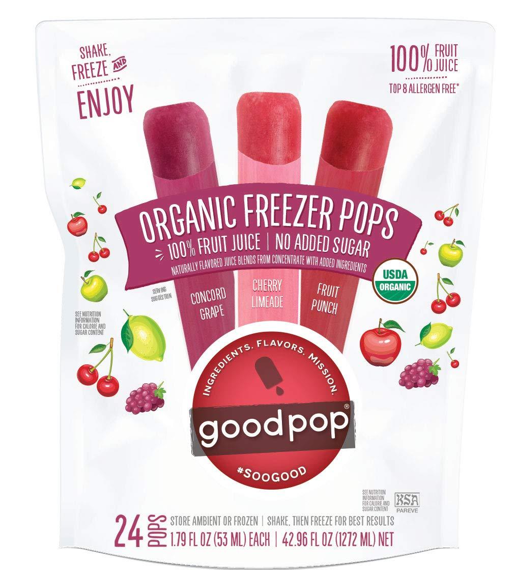 B07Y2GMQ99 GoodPop Organic Freezer Pops - 100% Juice, No Added Sugar - 24ct 61d32BxjIqqL