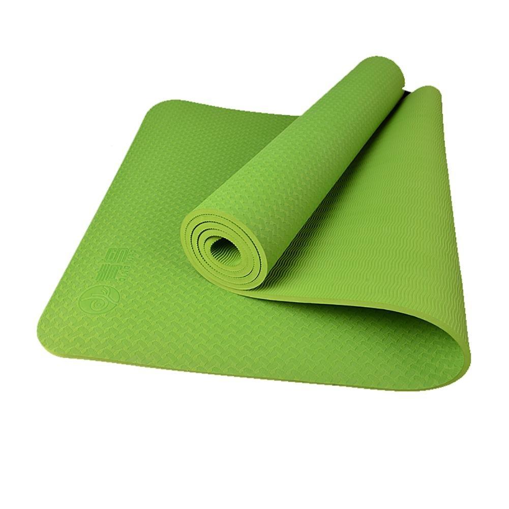 Lmzyan Anfänger 8mm TPE Yoga Matten Doppelseitige Linien Anti-Rutsch-Fitness-Matten