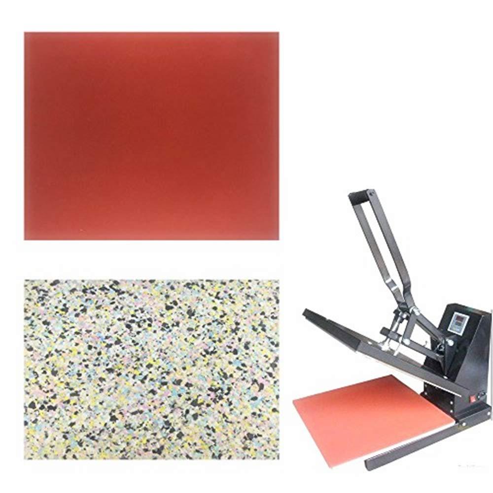 Sarira C High Temperature Resistant Red Heat Press Foam Pad & Multicolor Heat Press Sponge Cushion Mat, Heat Press Machine Transfer Sheets, Extra Thick, 2 Pack