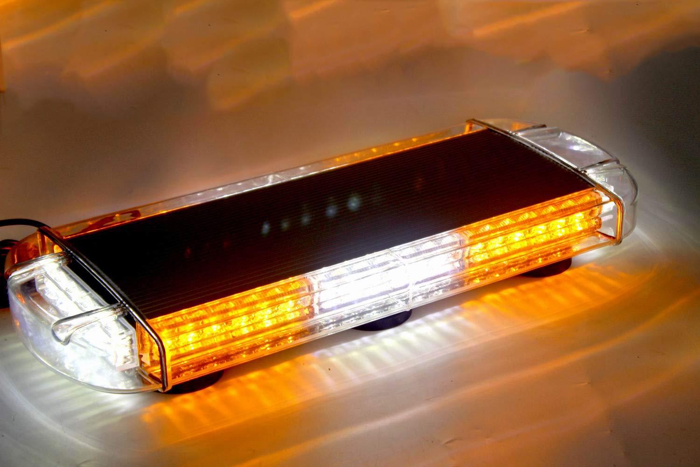 Bernstein /& Wei/ß ZONCENG LED Warnleuchte 54cm 48W Blinkmodi Alarm Licht Led Blitzer Auto Dach Magnetische Lampe Stroboskoplicht Warnlicht f/ür 12-30V PKW LKW Anh/änger Led Frontblitzer
