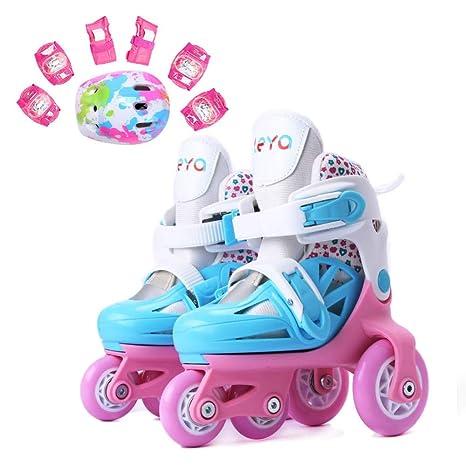 LXIANGP Patines de Ruedas para niños y niñas Patines de Ruedas los Zapatos LED se Pueden