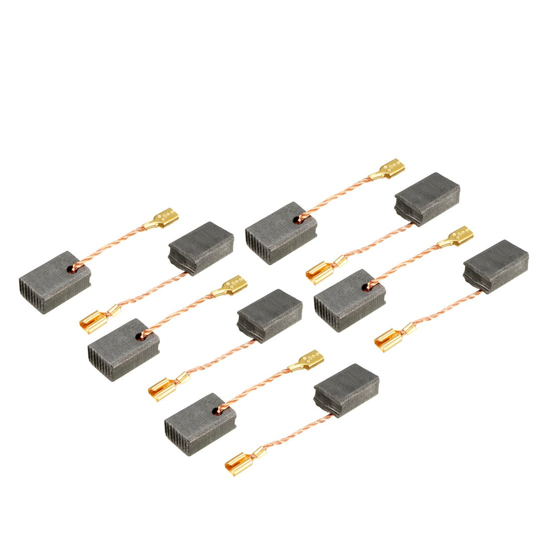 uxcell Carbon Brushes for Electric Motors 14mm x 9mm x 6mm Replacement Repair Part 10pcs