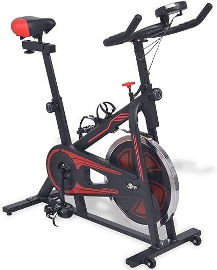 Festnight Bicicleta estática de Spinning elíptica con sensores a ...