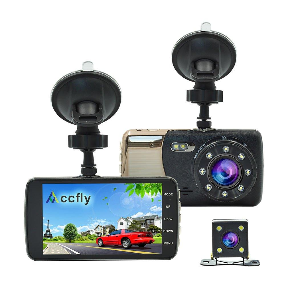 Accfly Caméra De Voiture Caméra De Recul Full HD 1080P Écran 4.0'',Dash Cam Grand Angle 170°,DASHCAM Voiture Double Objectif,WDR,Enregistrement En Boucle,G-Capteur, Surveillance de Station