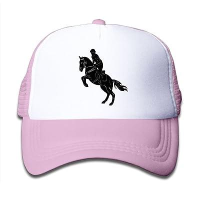 NO4LRM Kid's Boys Girls Soldier Ride Horse Youth Mesh Baseball Cap Summer Adjustable Trucker Hat
